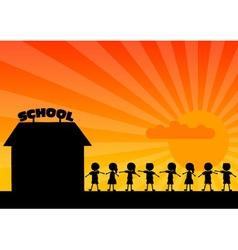 school woth children vector image vector image