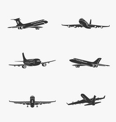 set of symbols passenger airplane vector image vector image
