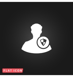 Shield icon with an avatar vector image