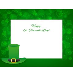 St Patricks day background with card vector image vector image