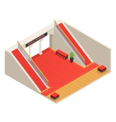 Stairs interior isometric vector