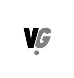 vg v g black white grey alphabet letter logo icon vector image