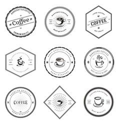 Vintage Coffee Badge Labels vector image