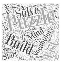 Vocabulary mind building puzzles word cloud vector