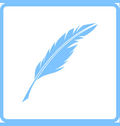 Writing feather icon vector