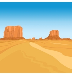 Mountains desert landscape background vector image