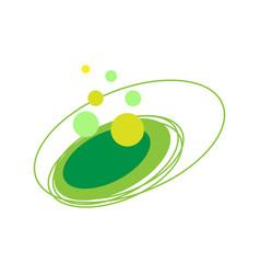 Circular abstract logo element vector
