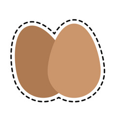 Two eggs icon image vector