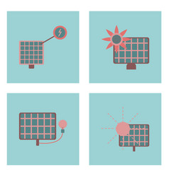 set of sun energy icons on color backgrounds vector image