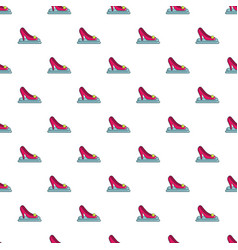 princess shoe pattern seamless vector image