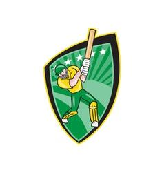 Australia cricket player batsman batting shield vector