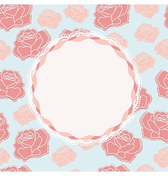 Pretty rose design with vacant central cartouche vector