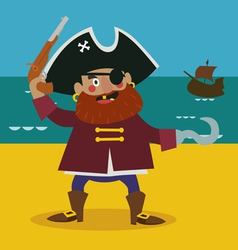 Pirate captain vector