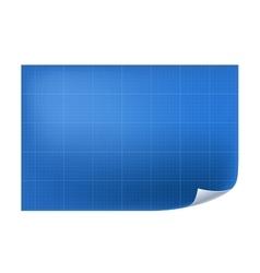 Blueprint architechture paper with line vector image