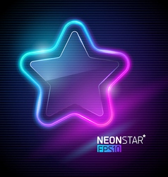 neon colorful star vector image