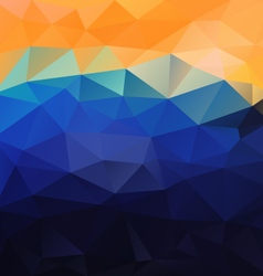 Yellow blue orange polygonal triangular pattern vector