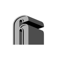 6 logo six 3d emblem digital abstract sign for vector