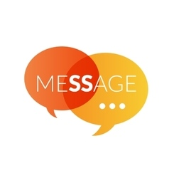 Text message logo vector