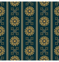 Seamless gold vintage ornamental pattern vector