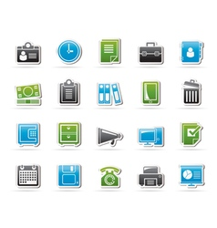 Business and office supplies icons vector