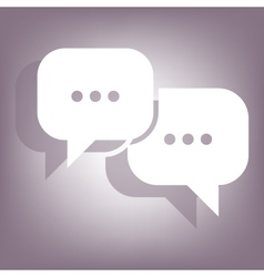 Icon with two speech bubbles vector