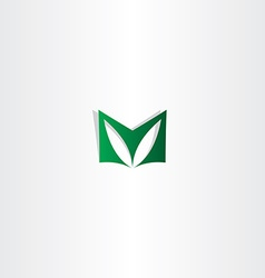 Letter m green logotype sign logo m icon vector