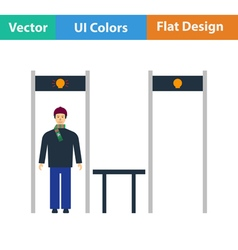Stadium metal detector frame icon vector
