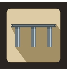 Narrow bridge icon flat style vector