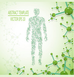 abstract molecule based human figure concept vector image