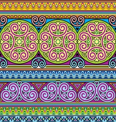 Asian ornament seamless vector image vector image