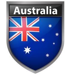 Australia flag on badge design vector