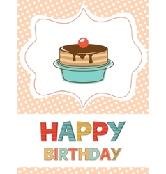 Birthday card with dessert vector