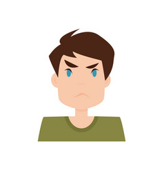 boy expression face vector image