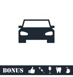 Car icon flat vector image vector image