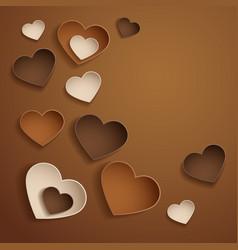 Chocolate hearts vector image vector image