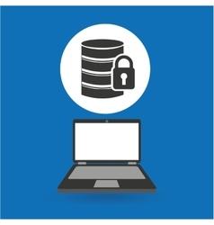 Computer analysis data security design vector