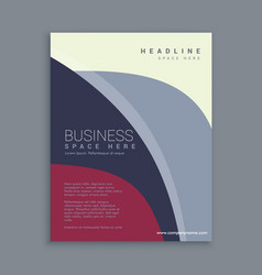 Corporate magazine page template vector