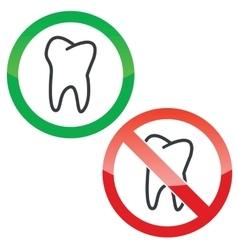 Dentist permission signs set vector