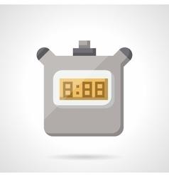 Digital stopwatch flat color icon vector image