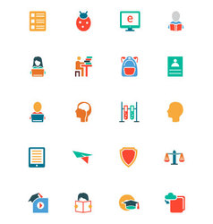 Education colored icons 14 vector