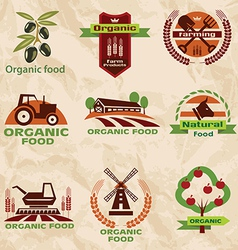 farm agriculture icons labels collection set2 vector image