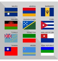 Flags of world flat Set number 13 vector image vector image