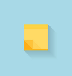 Flat web internet icon Yellow sticky notes paper vector image vector image