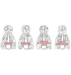 four business matrioshka vector image vector image