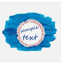 Frame for your text smears of blue paint vector