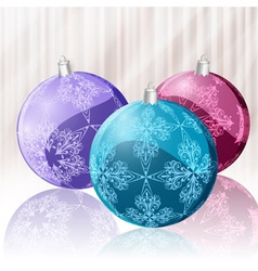 glittering christmas balls vector image
