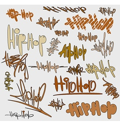 Graffiti tags urban signature vector