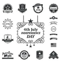 Independence day american sign background vector image