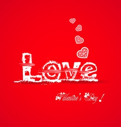 Love valentine typography vector