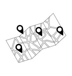 Map location marker vector